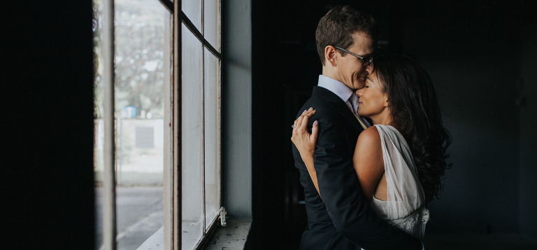 portrait of couple holding each other